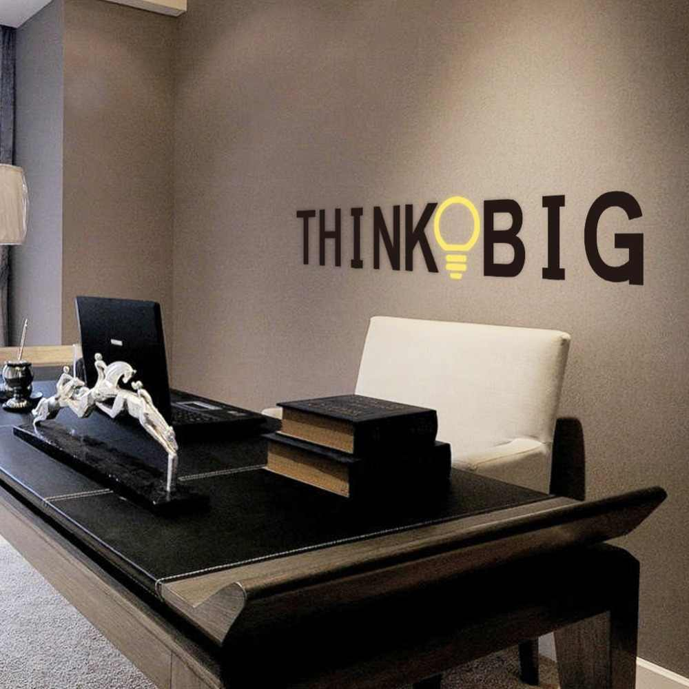 creative think big letters wall decals kids rooms study room office home decor vinyl wall stickers diy mural art decoration
