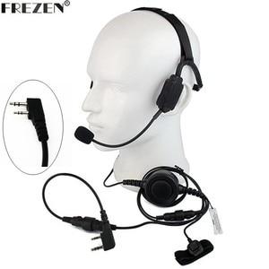 Image 1 - Walkie talkie Military Bone Conduction Tactical Headset boom Mic For Kenwood Portable Radio Baofeng UV 5R BF 888S UV 82 GT 3