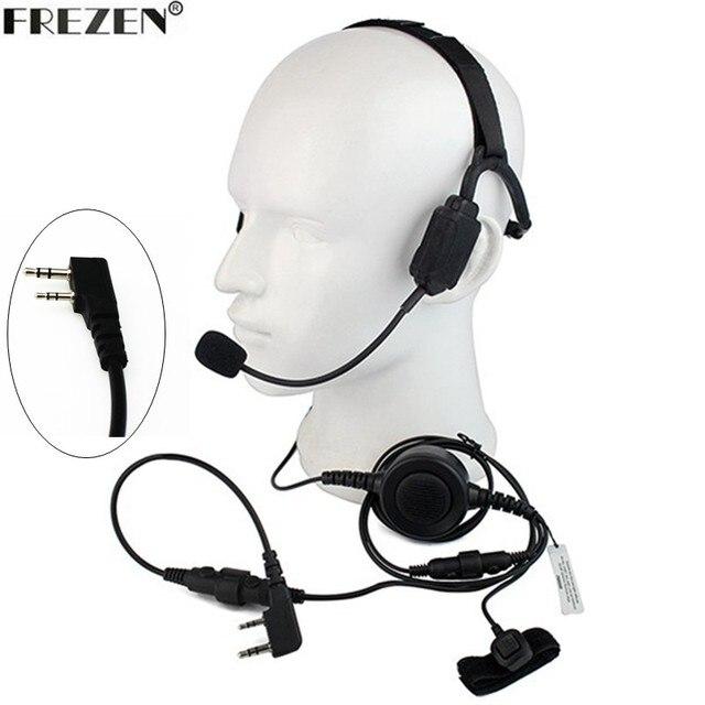 Walkie talkie Military Bone Conduction Tactical Headset boom Mic For Kenwood Portable Radio Baofeng UV 5R BF 888S UV 82 GT 3