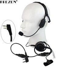 Walkie talkie auriculares tácticos de conducción ósea militar, micrófono boom Para Kenwood, Radio portátil, Baofeng, UV 5R, BF 888S, UV 82