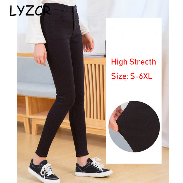 Black Women Skinny Jeans Woman High Waist Plus Size 5XL Slim Women's Jeans Large Size Denim Jeggings Stretch Jeans for Women