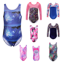 Girls Gymnastic Leotards Kids Ribbon Sleeveless 3 12Y Dance Leotards For Kid Girls Training Biketard Dancewear