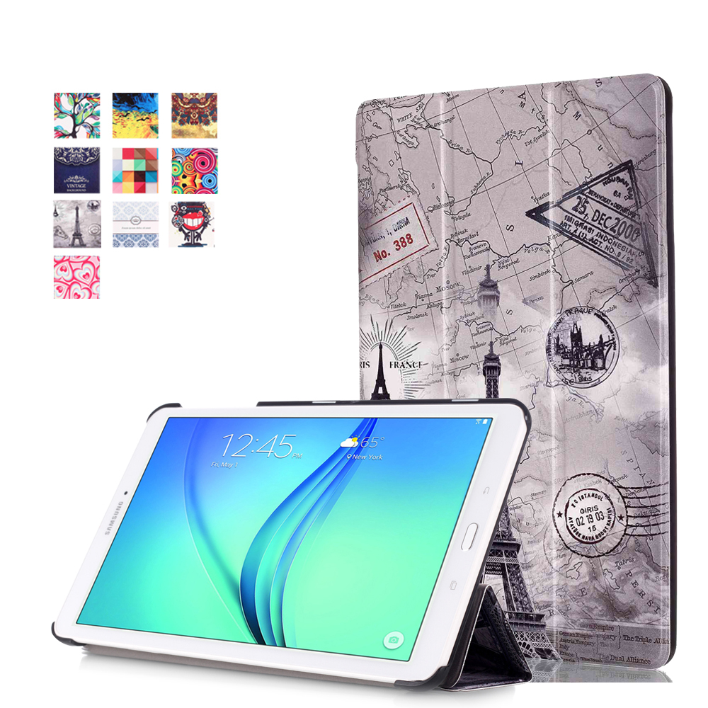Magnet Stand pu Leather case cover For Samsung Galaxy Tab E T560 T561 9.6 Tablet funda cover case + screen protectors + stylus