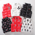 2016 baby boys girls vests waterproof jackets high collar penguins/smiley/snowman vest quilted coat H0047