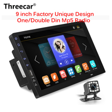 """9 """"Touch Mirrorlink Lettore audio Auto Bluetooth USB DVR Videocamera vista posteriore 2din auto Lettore radio MP5 One Din Autoradio No android"""