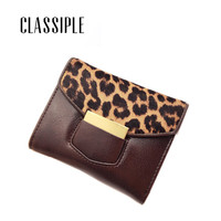Real Leather Wallet Female Leopard Horse Hair Womens Wallets Genuine Leather Lady Card Holder Coin Purse Girls Small Carteras