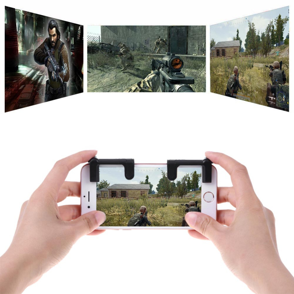 2Pcs K9 Mobile Phone Game Physical Phone Game Physical Joystick Controller Assist Tool for STG FPS TPS Game Button High Quality