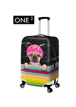 ONE2  2015 Newest design for travel accessories, 3D animal printing luggage protective covers for 18″ to 28″ luggage