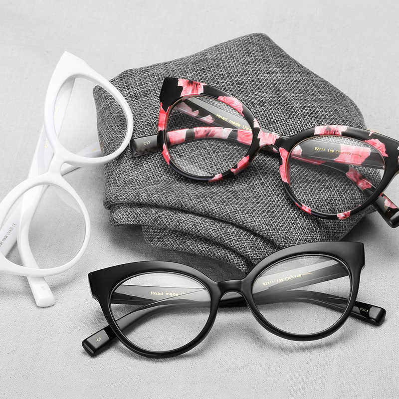4c22d5b19f5 Mincl Retro cat glasses frame fashion men s and women s glasses frames  super light optical diopter