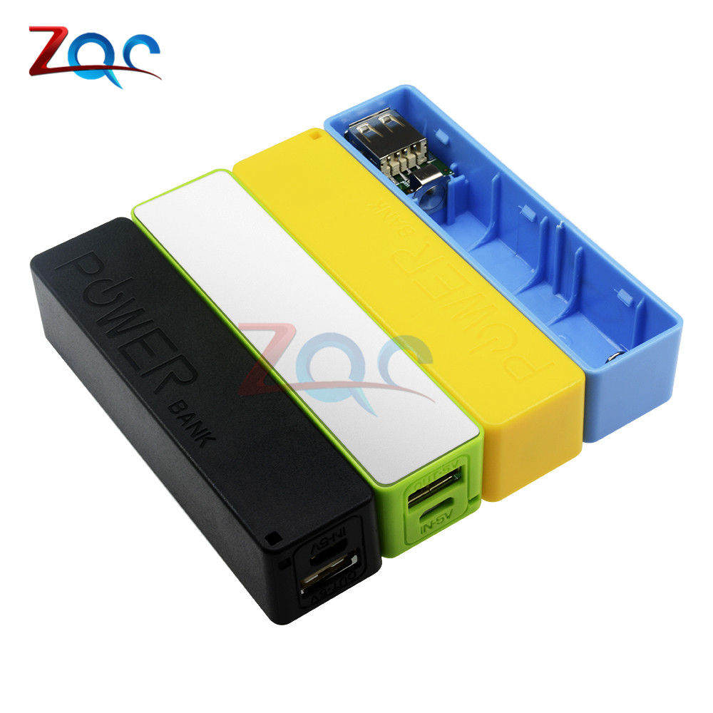New Portable Power Bank 18650 External Backup Battery Charger With Key Chain Green Black Yellow Blue 2