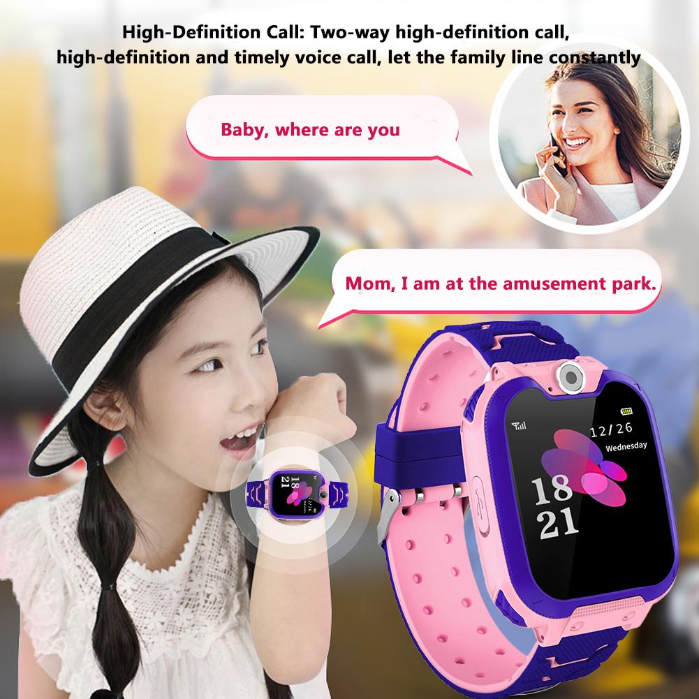 Smart Children's Watches Kids Touch Screen SOS Camera Call Location Device Wristwatch Waterproof Watch Anti Lost Monitor Gifts