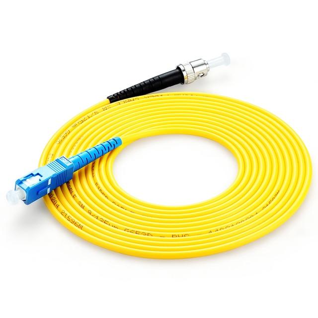 10 pcs Simplex SC/UPC ST/UPC In Fibra Ottica patch Cord Cavo di ponticello modalità Singola PVC cavo di 3 Metri sc st connettore