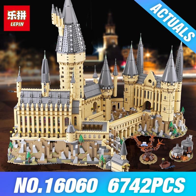 DHL Lepin 16060 Harry Movie Potter 71043 Hogwarts Castillo Mágico escuela modelo bloques de construcción DIY juguetes para niños regalos