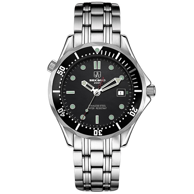 SEKARO suiza relojes de los hombres de la marca de lujo reloj mecánico  automático impermeable militar 8da957de6189