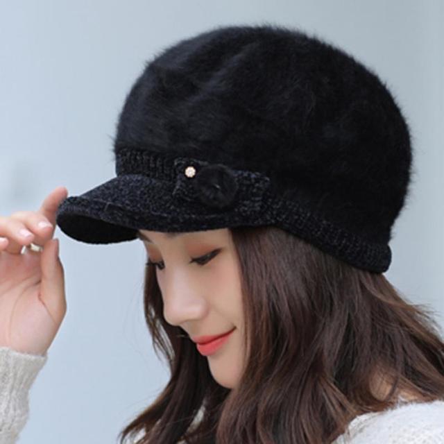 Cute Fluffy Women Beret Hat...