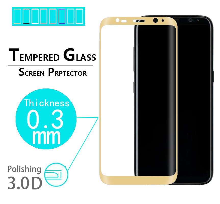 Full glass Cover 3D tempered glass film For Samsung Galaxy S8 Plus Curved Glass film For Galaxy s8 plus G955u 3D edge glass film