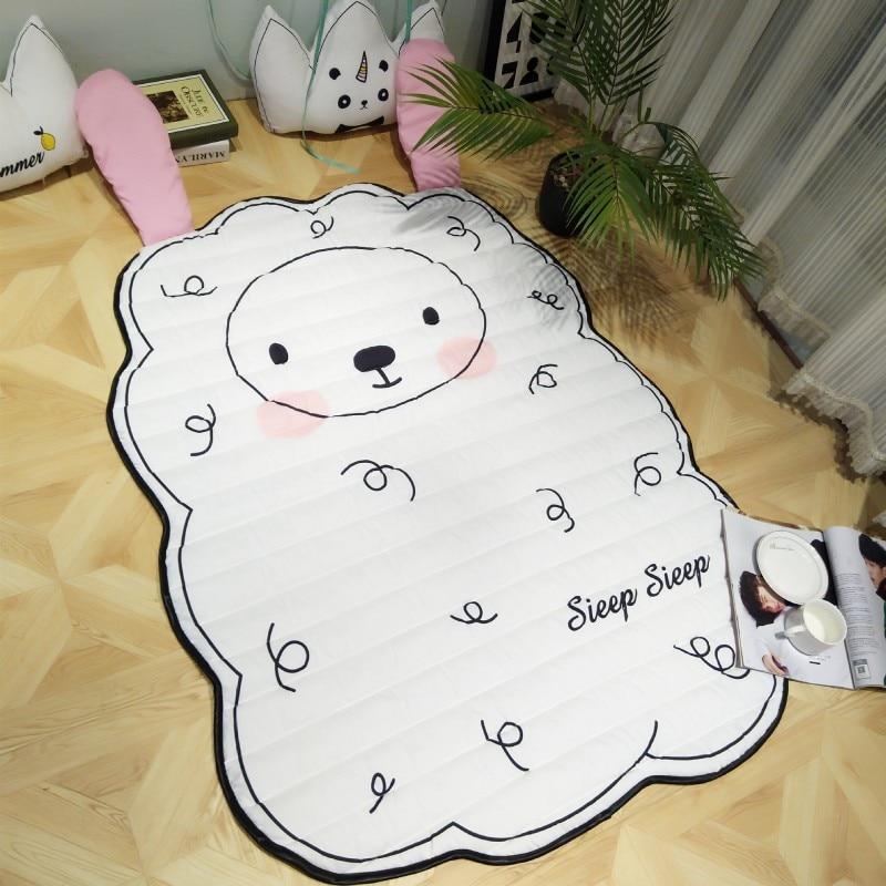100% Ice Cotton Kids Rug Baby Playing Crawling Mat Cartoon Sheep Penguin Bear Panda Cloud Rug and Carpet for Children Floor Pad