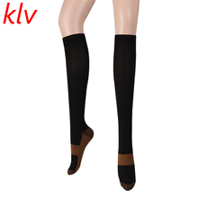 1ac3d391d38 KLV 2017 1 Pair Women Sexy Slim Leg Varicose Veins Sleep Compression Thigh  High Stocking For