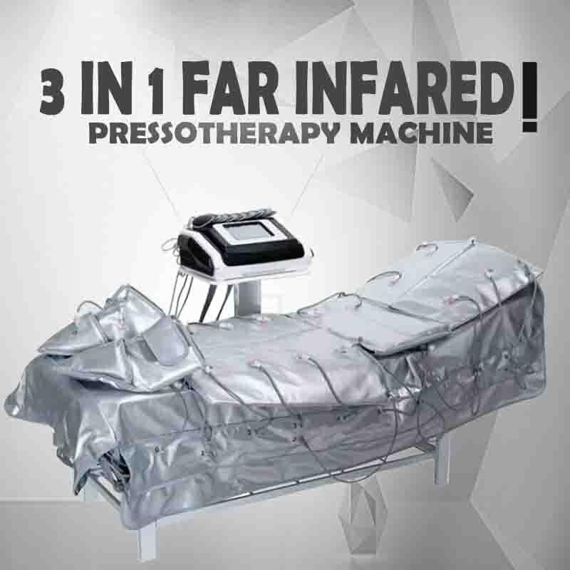 VENDA QUENTE!!! 2018 Mais Novo 3 Em 1 Infravermelho Distante Pressoterapia Máquina de Drenagem Linfática Infravermelho EMS Máquina de Massagem Emagrecimento Terno