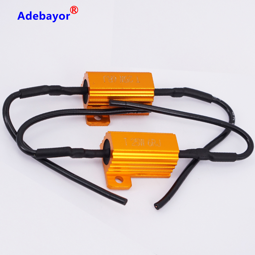 4PCS/set 25W 6ohm Load Resistor 12V Resistance For Car LED Flash Indicator Controller CANBUS Problem FREE SHIPPING Adebayor