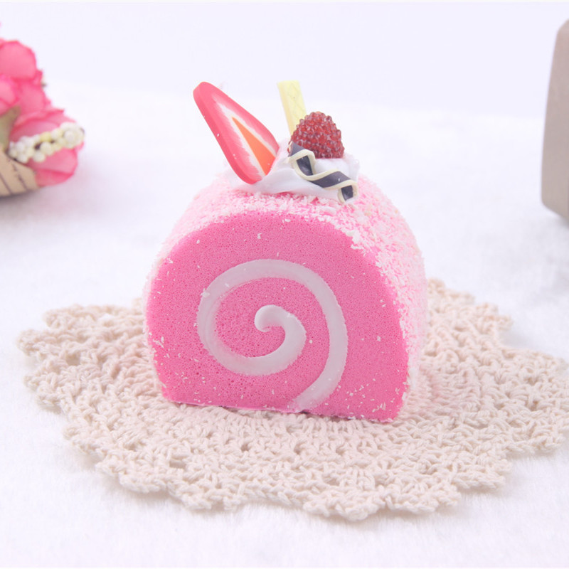 5CM Simulation Colorful Mini Swiss Roll Cake Stress Relief Toy Squishy Slow Rising Soft Squeeze Toys Kids Brithday Bread Gift