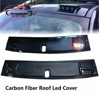 2017 Led Roof Light Raptor carbon fiber For REVO RANGER 2015+ Roof Accessories For RANGER HILUX REVO Decorative Panel Of Roof