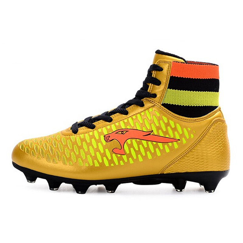 2017 Men High Ankle Soccer Shoes FG Football Boots Boys Kids Sport Soccer  Cleats Football Sock Boots Size 33 44 S29-in Soccer Shoes from Sports ... a26312e48aea
