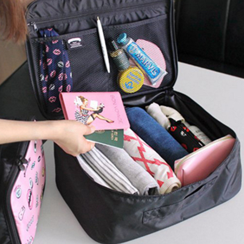 Women Organizer Travel Bag Casual Handbag Waterproof Uitcase Duffel Bag Multifunction Luggage Tote High-Capacity Bags