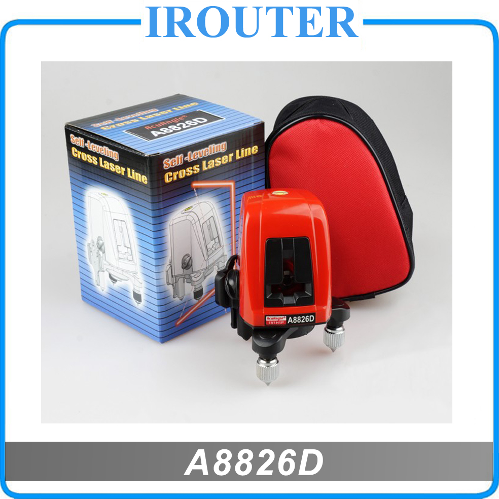 A8826D better than AK435 360degree self- leveling Cross Laser Level 1V1H Red 2 line 1 point HOT SALE