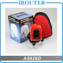 A8826D better than AK435 360degree self leveling Cross Laser Level 1V1H Red 2 line 1 point