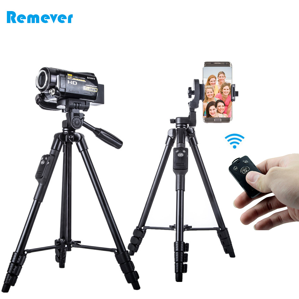Lightweight Protable Mini Camera Tripod with Phone Holder+Bluetooth Shutter Stand for Phones CANON SONY NIKON DSLR DV Cameras pixle vertax d14 battery grip as mb d14 for nikon dslr d600 d610 camera