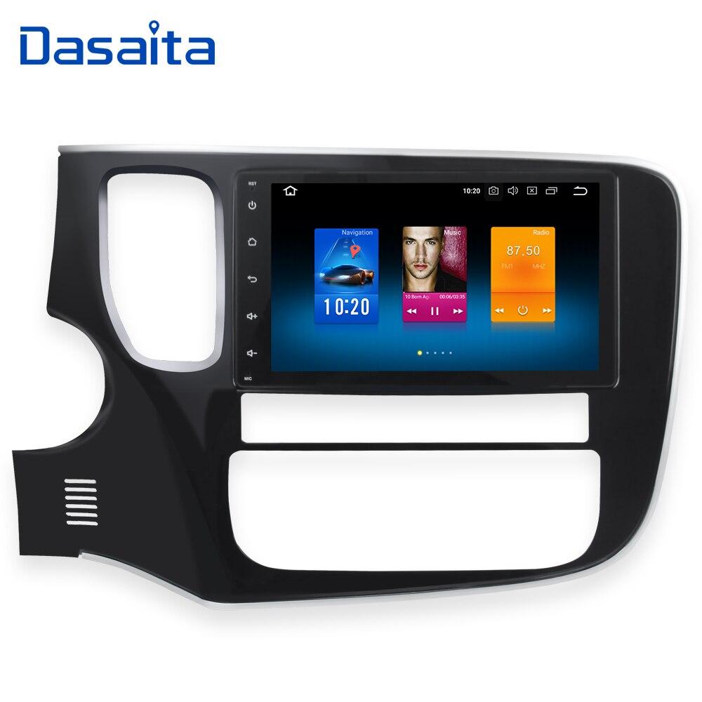 Dasaita 8 Android 8.0 Do GPS Do Carro Jogador de Rádio para Mitsubishi Outlander 2014-2016 com Núcleo octa 4 gb + 32 gb Auto Estéreo Multimídia