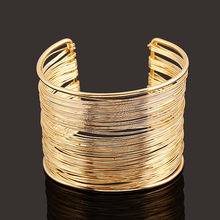 3 Colors High Quality Metal Wide Bangle For Women Girls Punk Style Fashion Cuff Bangle Bracelet Night Club Party Hands Wear