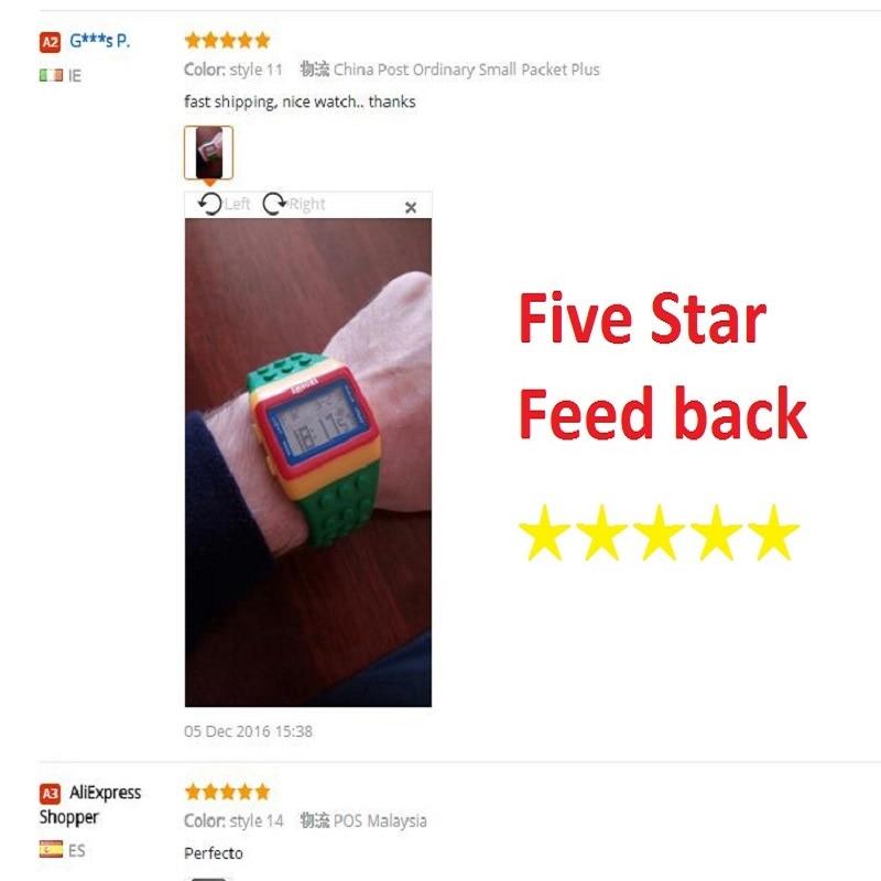 Hot Children's Watches Digital LED Chic Unisex Colorful Constructor - Barneklokker - Bilde 4