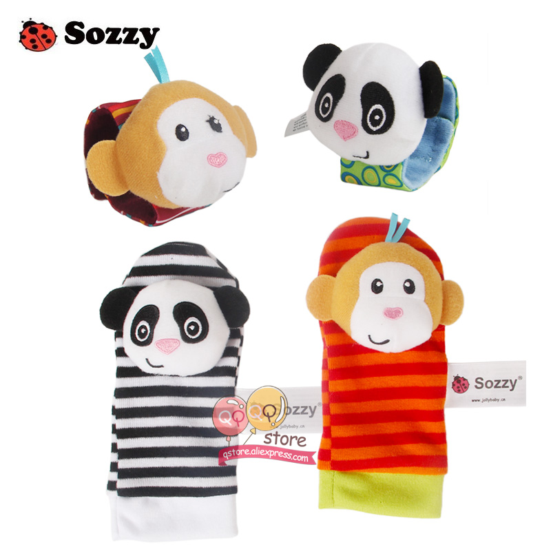 Sozzy-4pcs-Zebra-Baby-bebe-Infant-Wrist-and-Socks-Rattle-Bell-Foot-Finders-Set-Educational-Soft-Christmas-Gift-Toys-for-Children-2