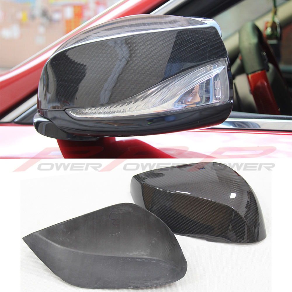 For Infiniti Q50 Carbon mirror cover add on style Q50 Q60 Q70 QX30 Carbon Fiber Rear Side View Mirror Cover 2014 2015 2016 -UP for infiniti q50 q50s 2014 2015 2016