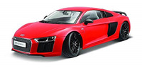 Maisto 1:18 Exclusive Audi R8 V10 Red Diecast Model Racing Car Vehicle Toy NEW IN BOX