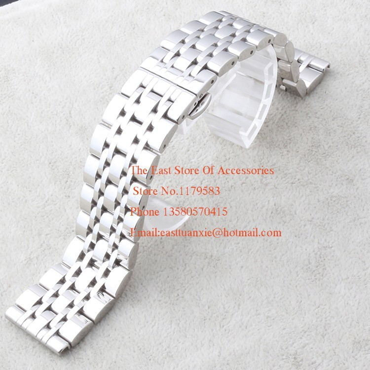 14mm 18mm 20mm 22mm Watchbands New Arrival 2015 High quality Stainless Steel Polished Bracelets For men