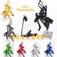 8 Colors For Kawasaki ZX6R 2003 2004 CNC Adjustable Rearsets Rear Set Motorcycle Footrests Hot Moto Foot Pegs High quality Pedal