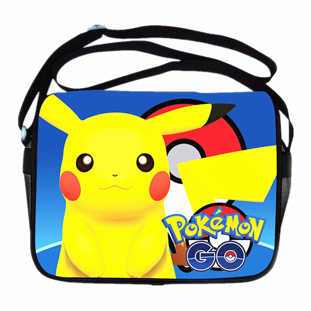 a5fcd5f854 Anime Pokemon Go Handbags Pocket Monster Pokemon Pikacun Messenger Bag  Girls Boys School Bags Kids Book Bags bolsa Shoulder bag