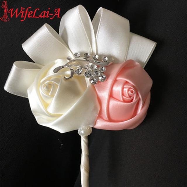 WifeLai-A Cream Wedding Corsages Boutonnieres Groom Boutonniere wedding Flowers Boutonniere Brooch Flower Pin X1102