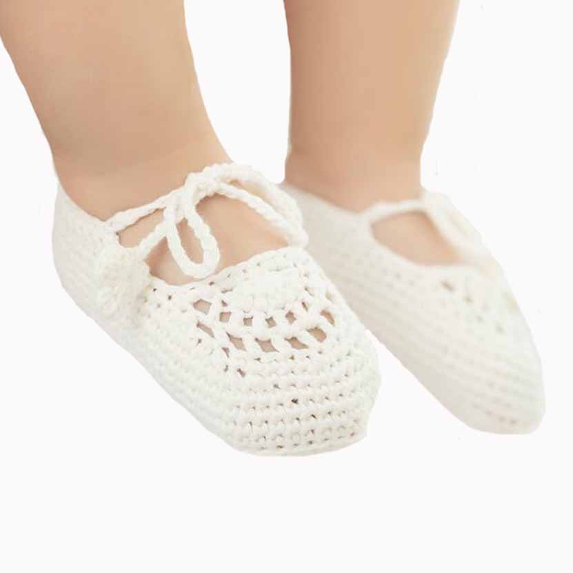 New summer baby shoes lovely cute cotton knitted infant newborn first walkers soft handm ...