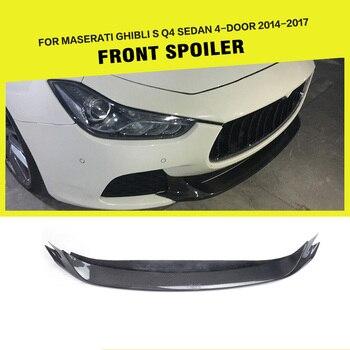Car-Styling Carbon Fiber Racing Front Bumper Lip Apron for Maserati Ghibli Sedan 4-Door 2014-2017 maserati granturismo carbon spoiler
