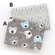 160cm*50cm bear infant baby cotton fabric bed sheets duvet cover bed linens pillow kids fabric for sewing qulit tissues(China)