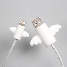 2 шт./лот, милое Крыло ангела, защита кабеля, наушники, USB устройство для сматывания кабеля, органайзер, держатель, зажим, обертывание, настольный набор, стационарный