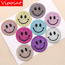 VIPOINT embroidery smile patches face badges applique for clothing XW-108
