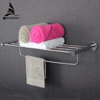Prateleiras De Vidro do banheiro Acessórios de Hardware Definir Cromo Fixado Na Parede Polido toalheiros Única barra de Toalha Acessórios Do Banheiro