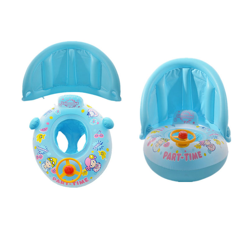 Blue Baby Floating Seat Baby Swimming Inflatable Ring infant Swim Pool Accessories Infant Swim Neck Rings Toys for Infant