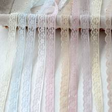 Latest Lace Ribbon Purple Blue Pink White Lace Fabric Applique Wedding Dress Sewing Accessories Trimmings Clothing dentelle LU1(China)