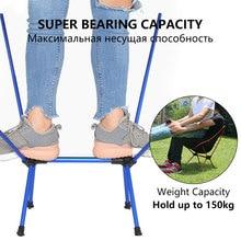 קל משקל קומפקטי מתקפל קמפינג חיצוני ריהוט נייד לנשימה נוח מושלם טיולים דיג כיסאות